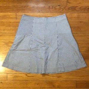 Loft seersucker skirt